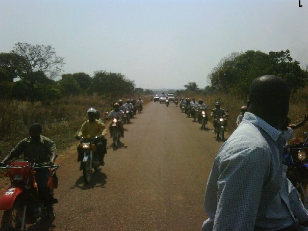 Mwinilunga bikers give HH presidential welcome