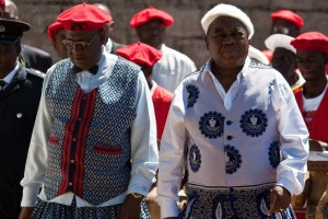 File picture: The Litunga (Left) with former President Banda. The tension is visible.
