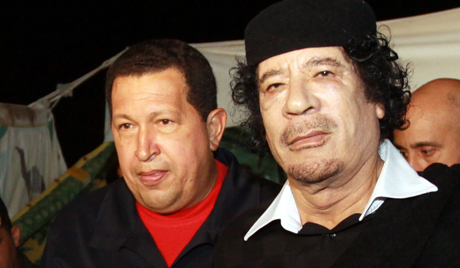 Chavez wishes Gaddaffi victory