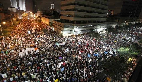 Israelis stage mass protests over rising living costs