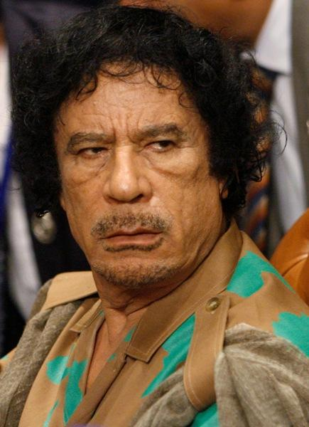 Col Muammar Gaddafi and son killed