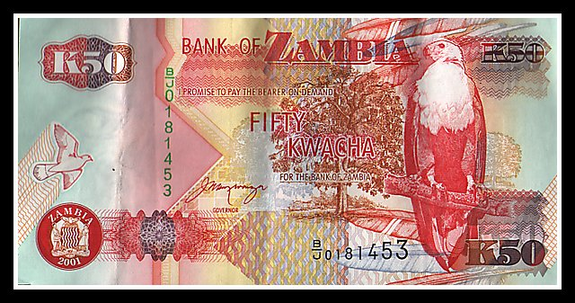 Zambia to rebase Kwacha, do away with notes higher than K50