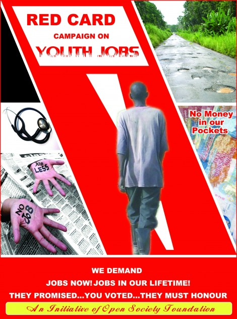 Red Card Campaign for youths jobs to be launched this month