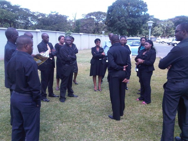 Stanbic bank workers wear black to protest pathetic salaries