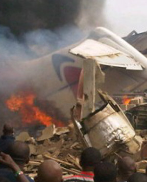 Nigerian plane crashes in residential area – 153 feared dead