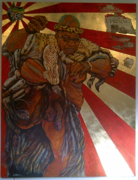 New painting of Zuma with penis out is insult to artist' parents- ANC