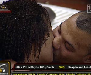 Big Brother: Zambia's Talia kisses and showers with Keagan