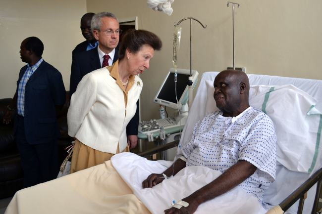 Photo of the day: KK in hospital.