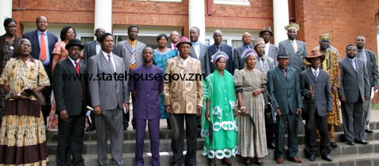 Chiefs from areas where there are looming bye-elections meet Sata at State House