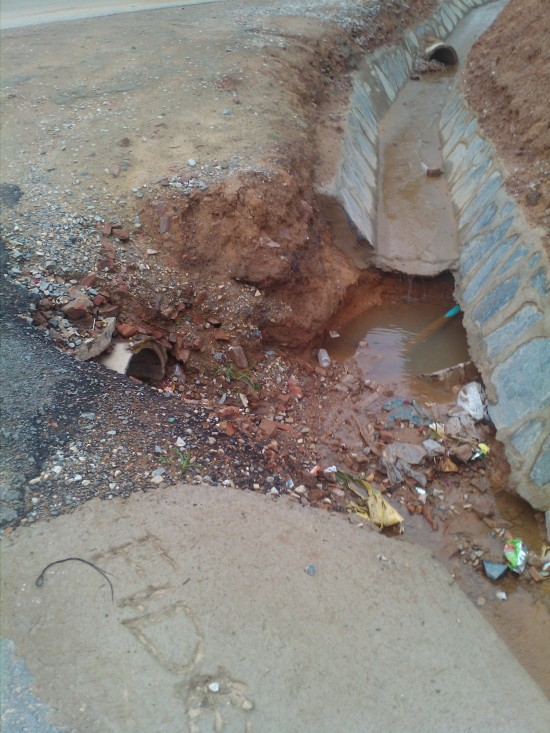 Poor road works in Lusaka's Olympia residential area
