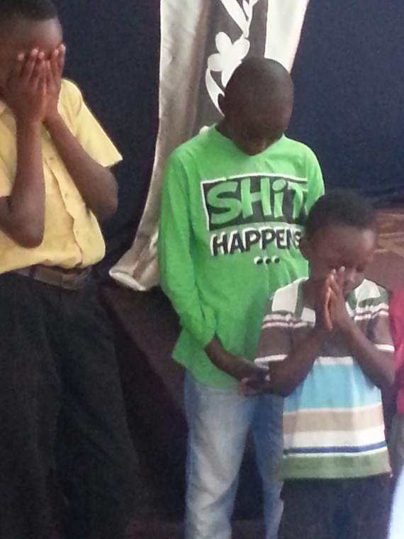 Photo of the day: What children wear in Church these days
