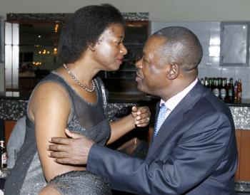 Another photo of the day: Namugala goes into Kabimba's arms