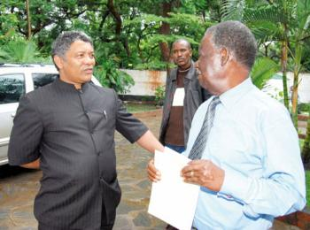 Given Lubinda with President Michael Sata