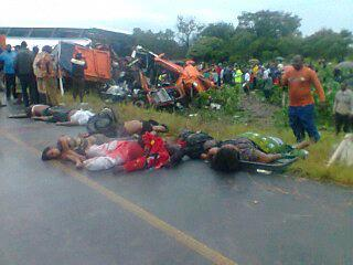 Post bus in accident, more than 50 dead