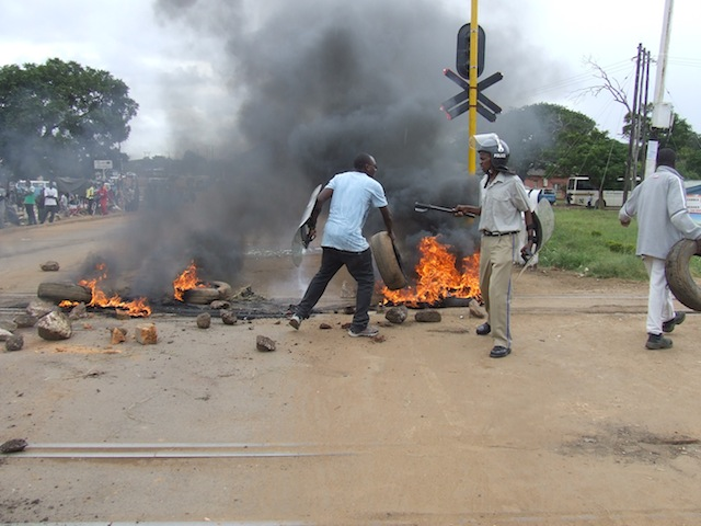 Kabwe taxi drivers and police battles in pictures