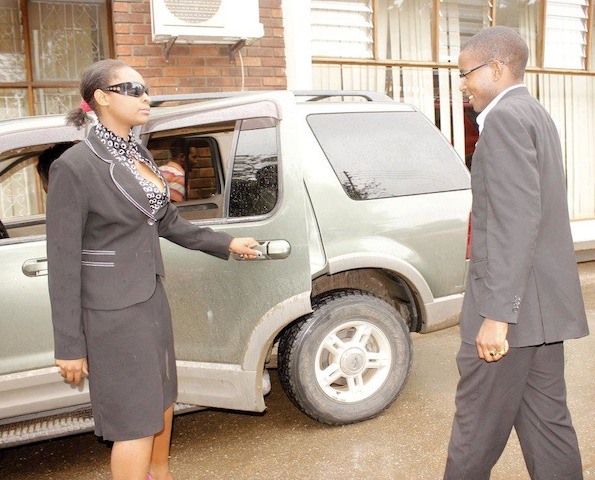 Cosmo mumba with female body guards