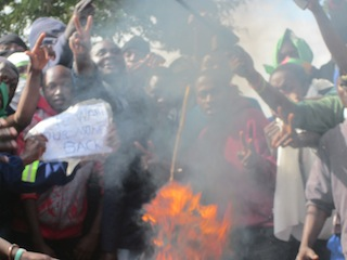 Kabwe Institute students protest
