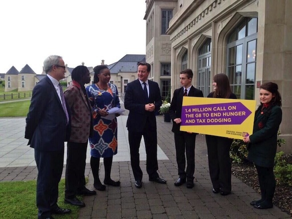 Pamela Chisenga tells David Cameroon how G8 is failing poor countries