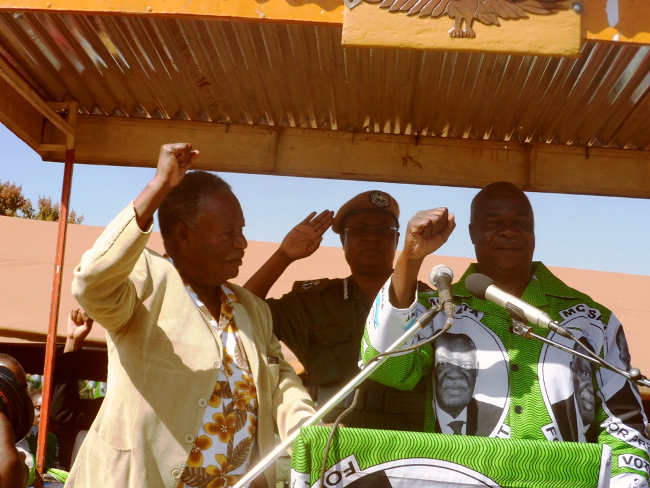 Ailing Sata blasts Chinese official and sends him away from rally