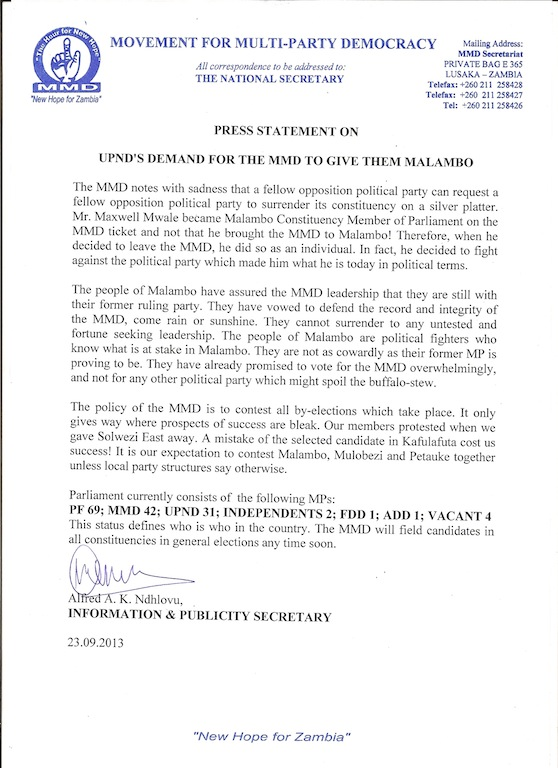 press statement 23.09.2013