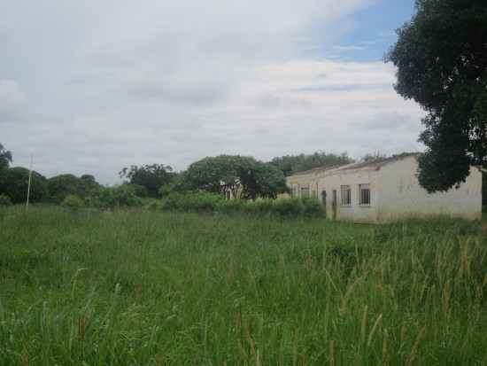 Katete primary school, where the roof was blown off the classes and head's office