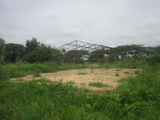 The abandoned Mungule market which was started by  MMD