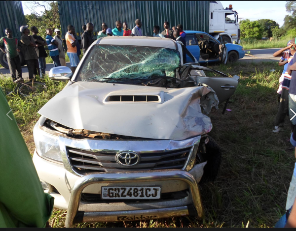 Luona DC survives road accident