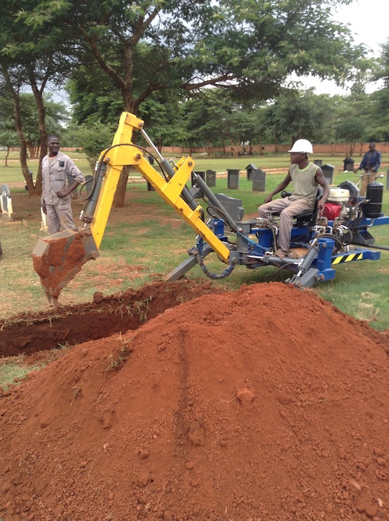 Grave diggers replaced by machine, 60 lose jobs