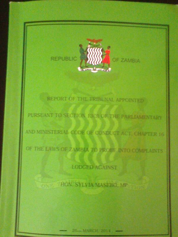 Here is the Sylvia Masebo tribunal report in full