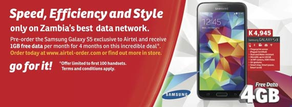 Airtel Zambia launches Samsung Galaxy S5