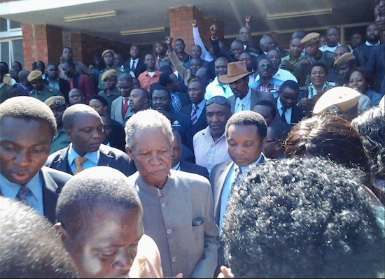 Photo of the day: president Sata leaving court on May 21, 2014
