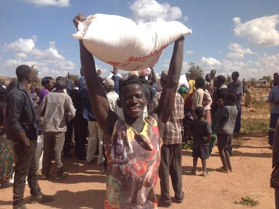 HH donates food to families whose houses were demolished by PF