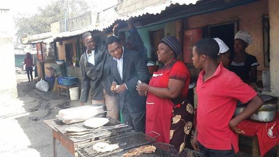 HH calls on Zambians to remain united and peaceful, as he tours Thorn Park market