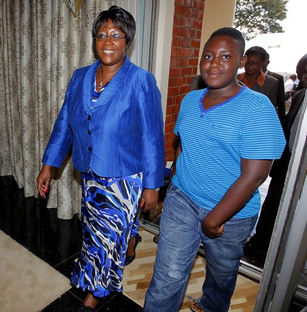 Sata's last born son picked from SA school to be with his father's bed side