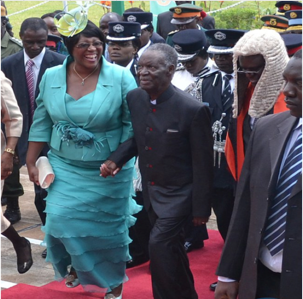 Photo of the day: Sata's wife and chimpwena