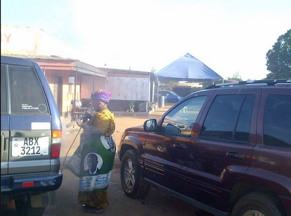 Mama Ester, a retired teacher washing cars to feed family