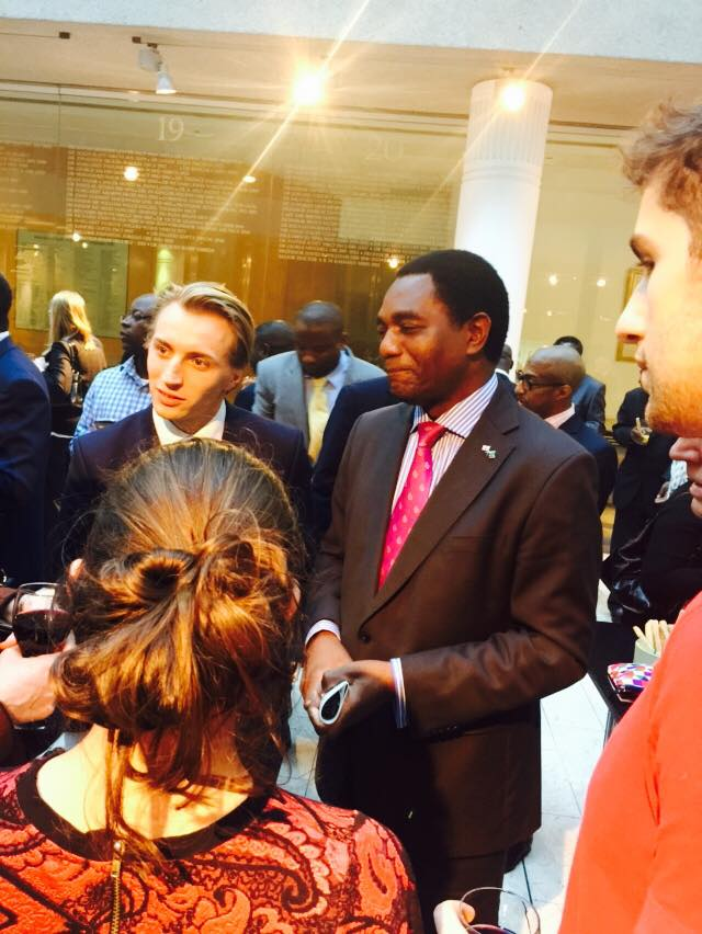 Hichilema speaks in London