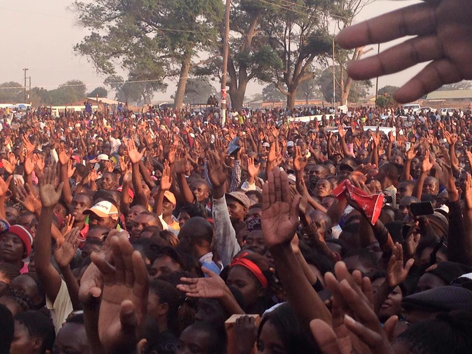 Photos of the weekend: UPND rally in Chingola