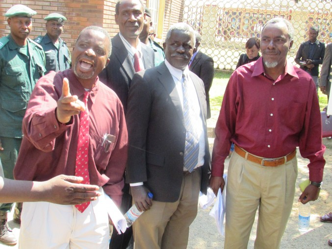 The Barotse detainees after court appearance in kabwe