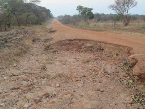 This road in Bwacha constituency has been nichnamed 'Mushanga death trap'.