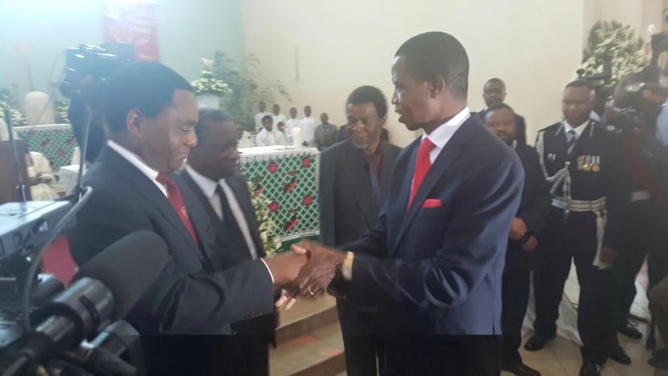 Lungu, HH bump into each