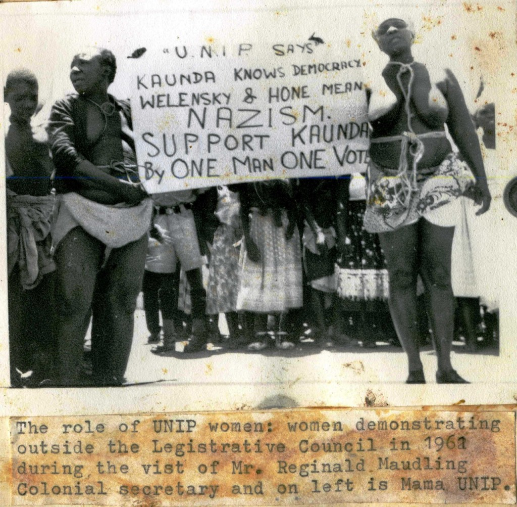 Zambian women fighting for independence in 1961