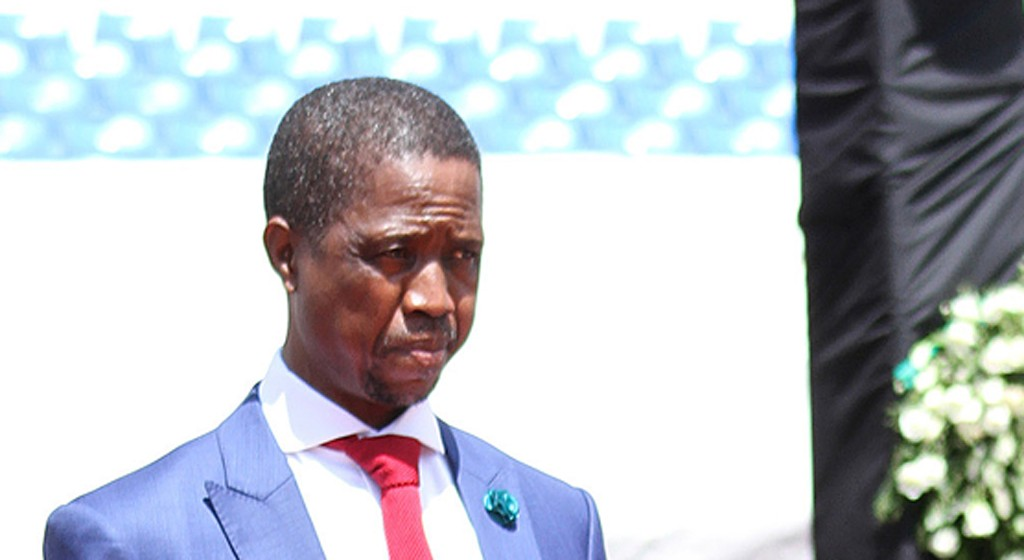 epa04583609 Zambian president elect, Edgar C Lungu, at his presidential inauguration in the capital Lusaka, Zambia, 25 January 2015. The countries recent elections are following the death of late President Michael Sata in office last year. EPA/NOEL MACKSON