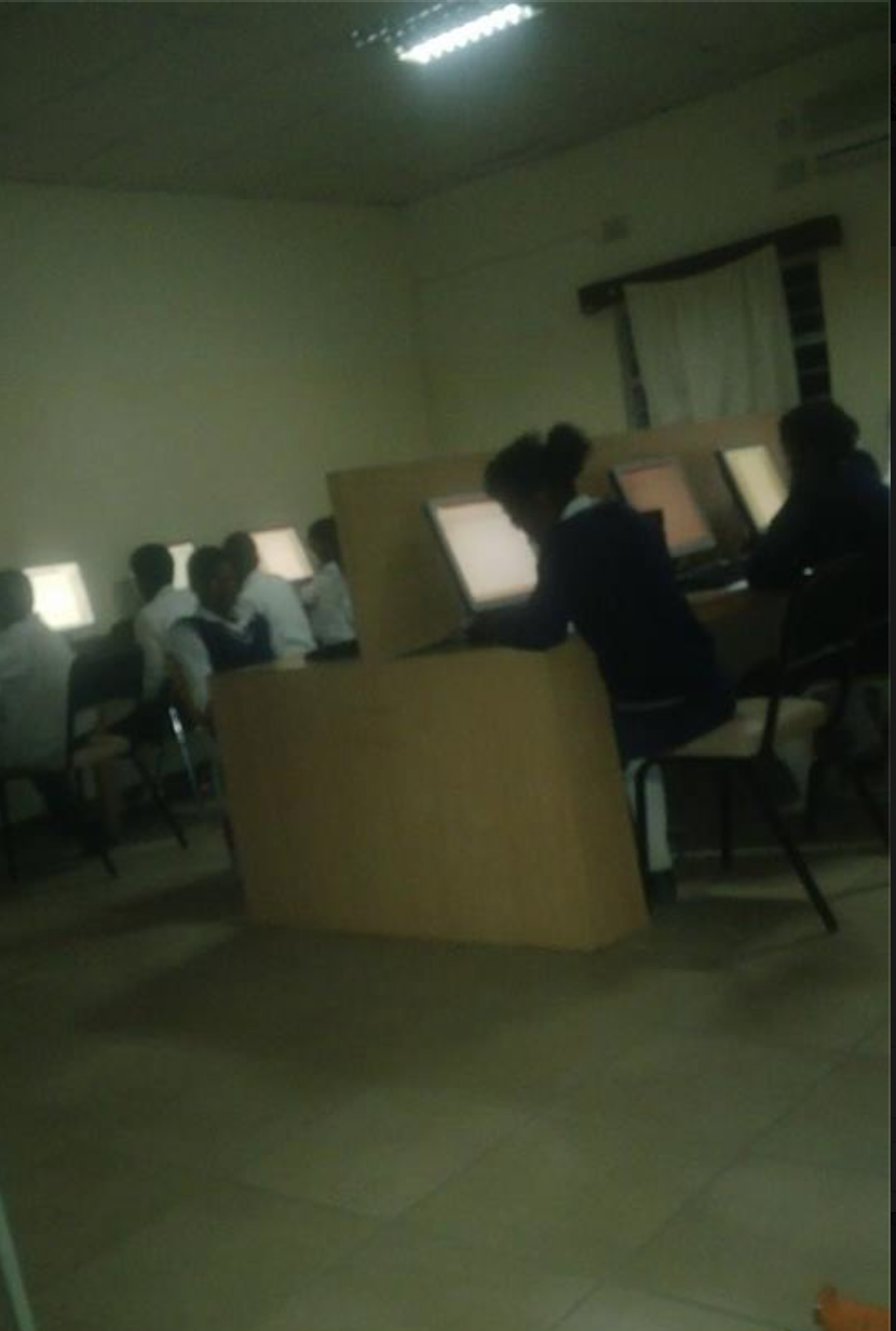 Photos of the day: Grade 9 ICT exams in darkness