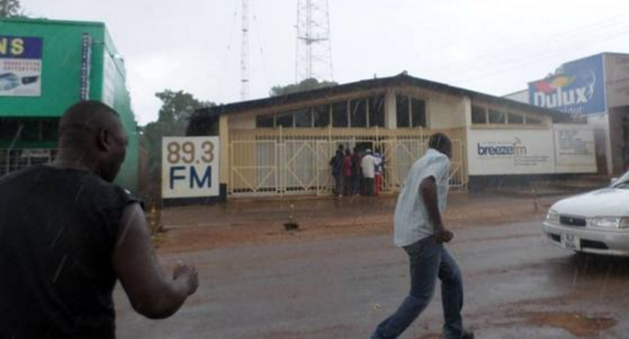 Some of the hooligans who attacked Kabimba, Breeze Radio named