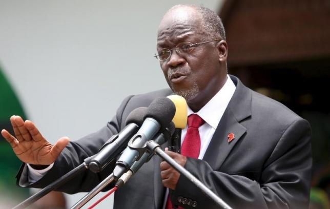 Tanzania's President elect Magufuli addresses members of the ruling CCM at the party's sub-head office on Lumumba road in Dar es Salaam