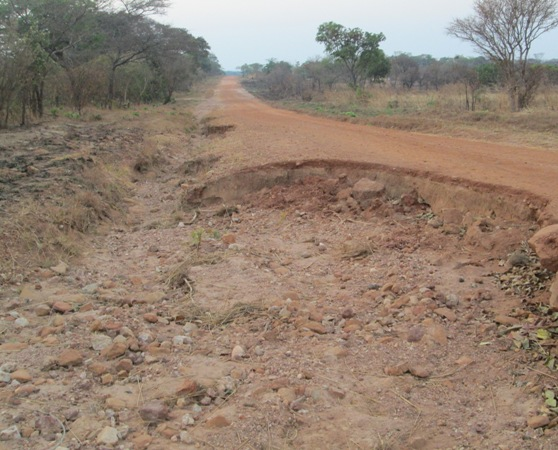 Sydney Mushanga's road in Bwacha Constituency