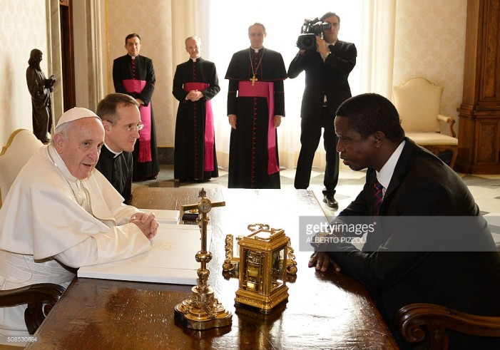 Pope explains to Lungu importance of Catholic Church in Zambia