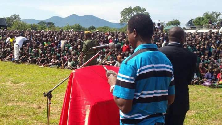 Photo of the day: Lungu addressing kids