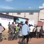 People queue for mealie meal at Kasama milling